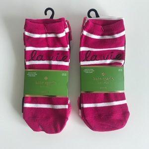 Kate Spade New York Ankle Socks Lot NWT
